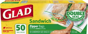 Glad Food Storage Sandwich Zipper Bag