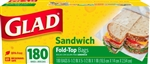 Glad Fold Top Sandwich Food Storage