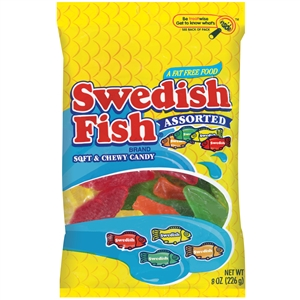 Swedish Fish Candy Assorted Peg Bag - 8 Oz.