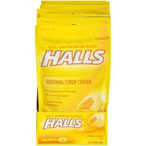 Halls Plus Honey Lemon 25 Piece Bag