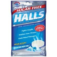 Halls Sugar Free Mountain Menthol 25 Piece Bag - 77.5 Gram