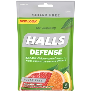 Halls Defense Sugar Free Assorted Citrus - 0.17 lb.