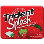 Cadbury Adams Trident Splash Strawberry Lime Gum