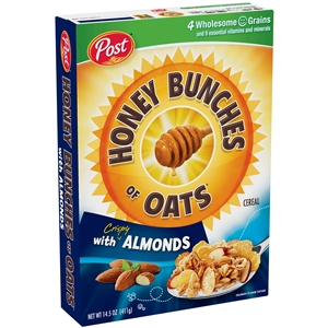Ralston Cereal Honey Bunches Of Oats Almonds - 14.5 Oz.