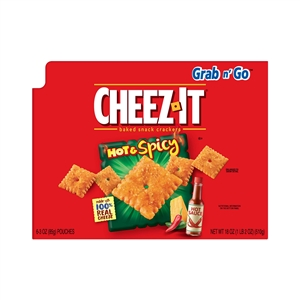 Kelloggs Cheez It Hot and Spicy Snack - 3 Oz.