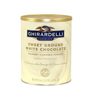 Ghirardelli Sweet Ground White Chocolate Flavor Mix - 3.12 Lb.