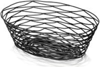 Tablecraft Metal Oval Basket Black - 10 in. x 7 in. x 3 in.