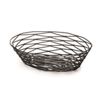 Tablecraft Metal Oval Basket Black - 9 in. x 6 in. x 2.5 in.