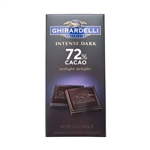 Intense Dark Chocolate 72 Percentage Cacao Twilight Delight Bar - 3.5 Oz.