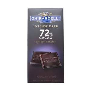 Intense Dark 72 Percent Cacao Twilight Delight Bar - 3.5 oz.