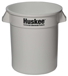 Continental Plastic Receptacle Huskee White - 10 Gal.