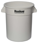 Continental Plastic Round Huskee White - 20 Gal.