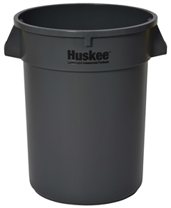 Continental Plastic Round Huskee Gray - 32 Gal.