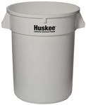 Continental Plastic Round Huskee White - 32 Gal.