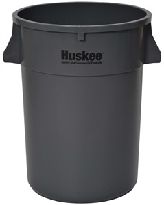 Continental Plastic Round Huskee Gray - 44 Gal.