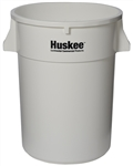 Continental Plastic Round Huskee White - 44 Gal.