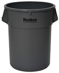 Continental Plastic Round Huskee Gray - 55 Gal.
