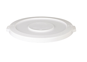 Continental Plastic Huskee Lid White - 44 Gal.