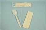 Goldmax School Spork Straw and Napkin Kit