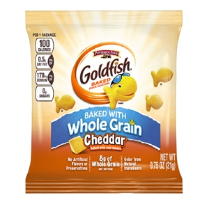 Campbell's Goldfish Whole Grain Cheddar Snack 0.75 Oz.