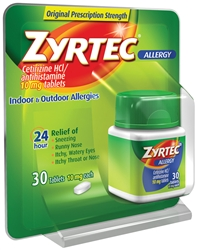 Zyrtec 24 Hour Allergy Tablet - 10 Mg.