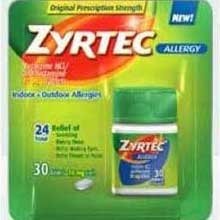 Zyrtec 24 Hour Allergy Tablet