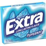 Wrigleys Extra Single Serve Peppermint Gum 15 Piece
