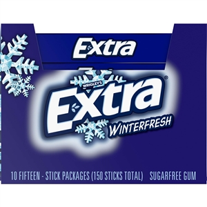 Wrigleys Extra Single Serve Winterfresh Gum 15 Piece