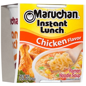 Maruchan Instant Lunch Chicken Flavor 2.25 oz. Noodle Soup