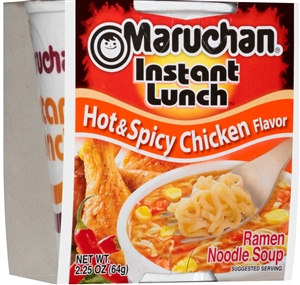 Maruchan Instant Lunch Hot and Spicy Chicken Flavor 2.25 oz. Noodle Soup