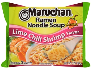 Maruchan Ramen Lime Chili Shrimp Flavor 3 oz. Noodle Soup