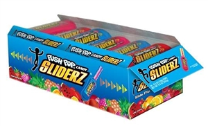 The Topps Push Pop Sliderz Laydown Candy Box