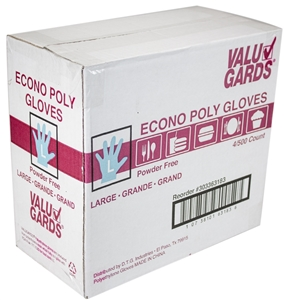 Handgards Large Value Line EMB Poly Glove
