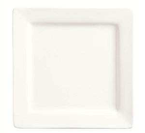 Slate Bright White Square Plate - 12 in.