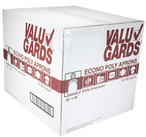 Handgards Valugard Poly Apron White - 28 in. x 46 in.