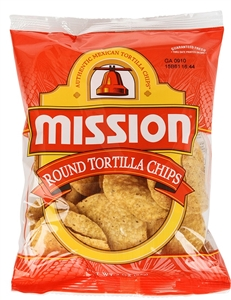 Mission Foods Concession Yellow Round Tortilla Chips - 3 Oz.