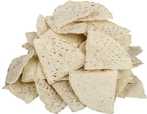 Tortilla Chips Pre-Cut Unfried White 4 Cuts - 20 Lb.