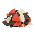 Mission PreCut Unfried Red, White and Blue Chips 6-cut Rustic
