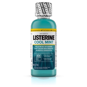 Johnson and Johnson Listerine Antiseptic Mouthwash Cool Mint - 3.2 Oz.