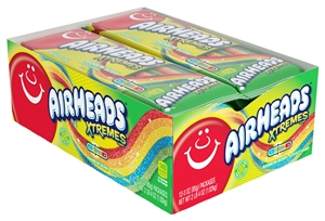 Airheads Xtremes Belts Sweetly Sour Candy-Rainbow Berry-3 Oz. Tray