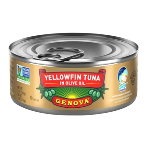 Chicken Of The Sea Genova Tuna Solid Light Yellowfin Pure Olive Oil - 5 Oz.
