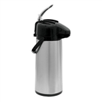 Stainless Steel Black Airpot - 2.2 Liter