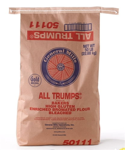 Flour bleached enriched malted bromated all trumps wheat for Anrichte flur