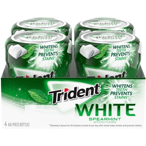 Trident White Spearmint Bottle