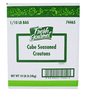 Sugar Foods Fresh Gourmet Seasoned Croution Cube 10 Lb.