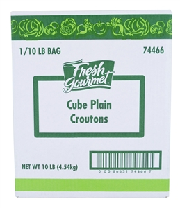 Sugar Foods Fresh Gourmet Plain Croution Cube - 10 Lb.