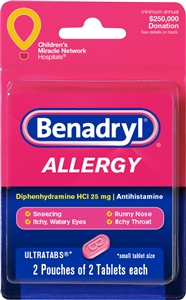 Benadryl Ultra Allergy Tablets Blister Card