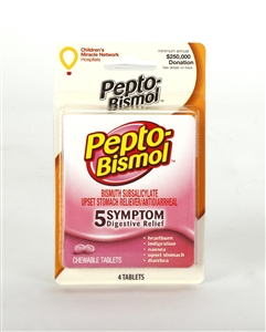 Convenience Valet Pepto Bismol 4 Chewable Tablet