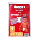 Convenience Valet Huggies Diapers Kit Large and 8 Baby Wipes