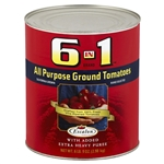 6 In 1 Prepared Puree Ground Tomato - 105 Oz.